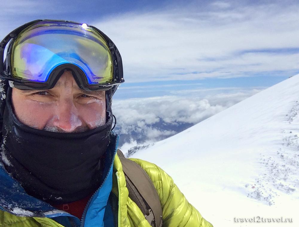 На спуске с вершины Эльбрус, 5400 метров
