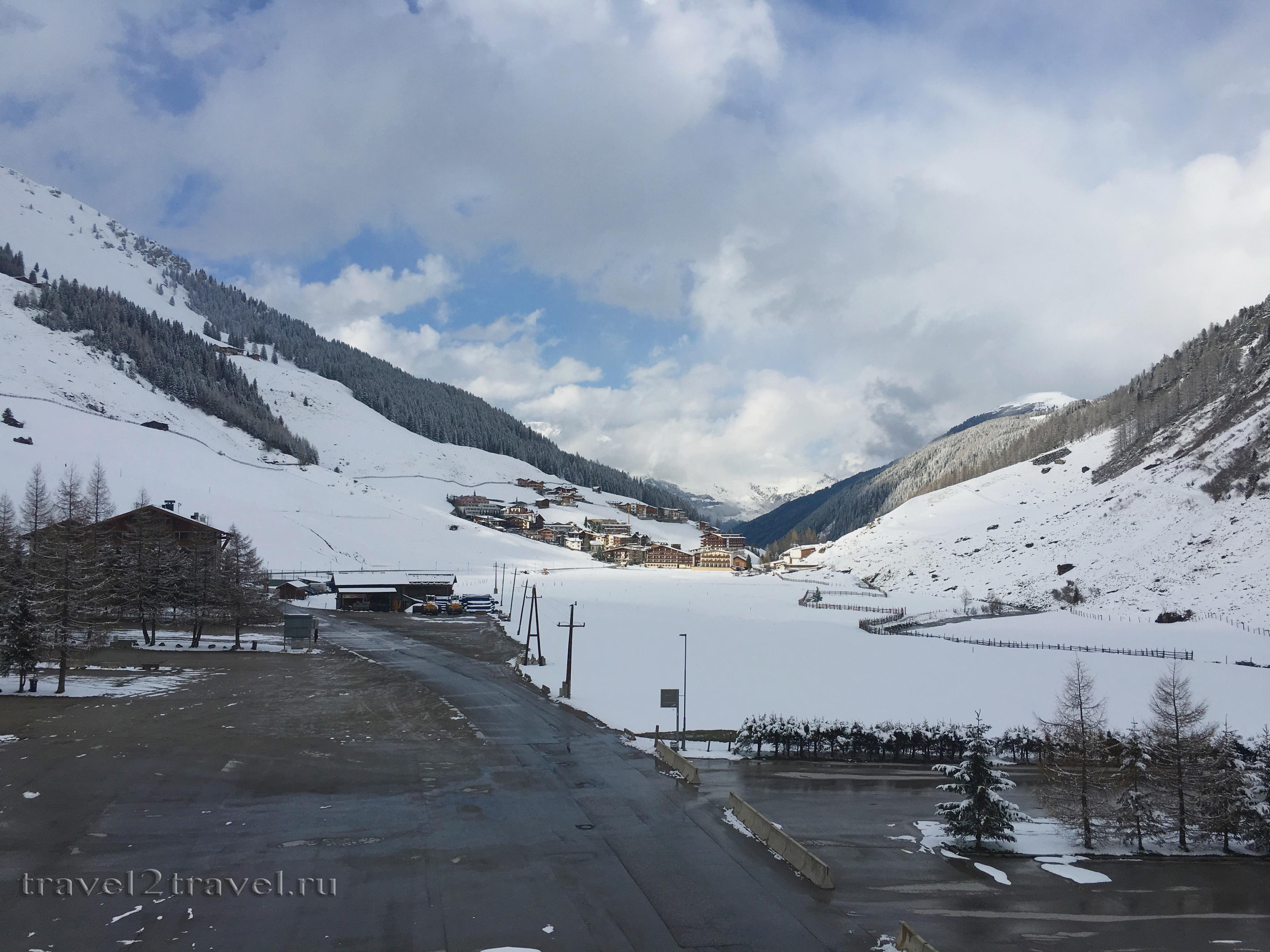 Вид из номера 221 в отеля Gletscher & Spa Neuhintertux