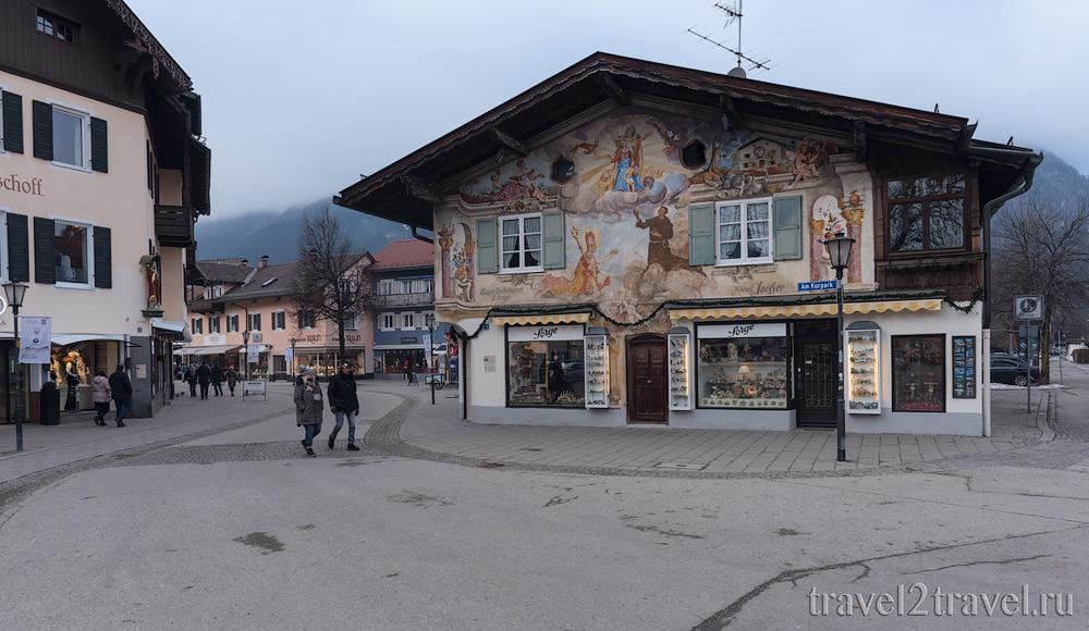 Горнолыжный курорт Гармиш-Партенкирхен (Garmisch-Partenkirchen), Бавария, Германия