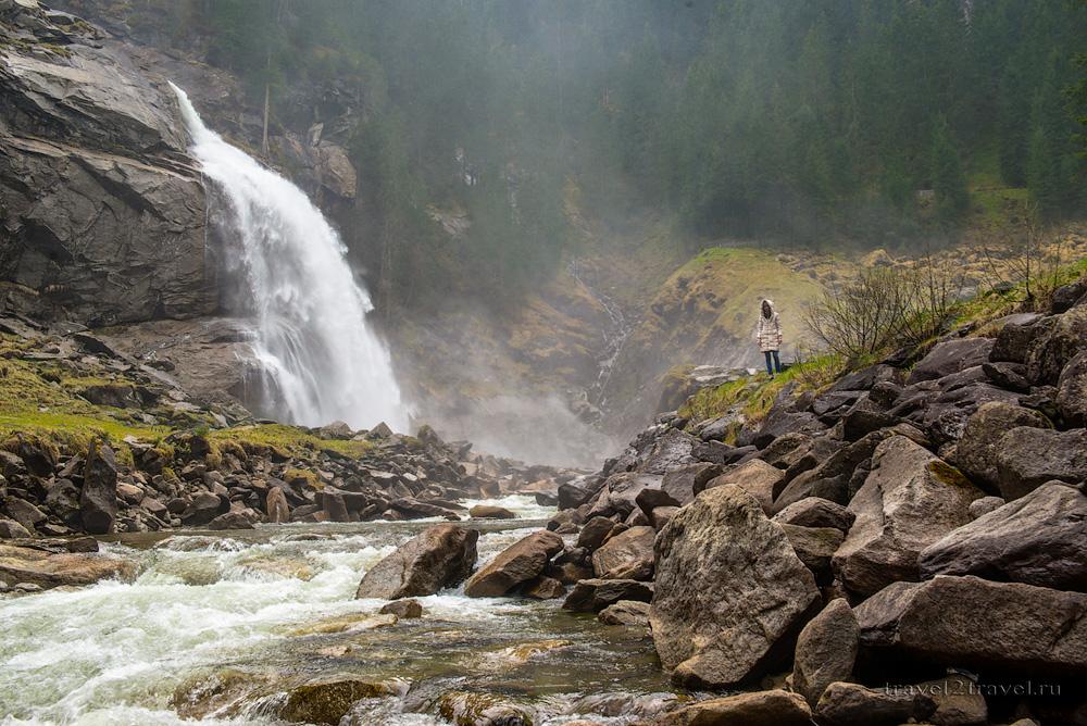 Криммльский водопад, Австрия