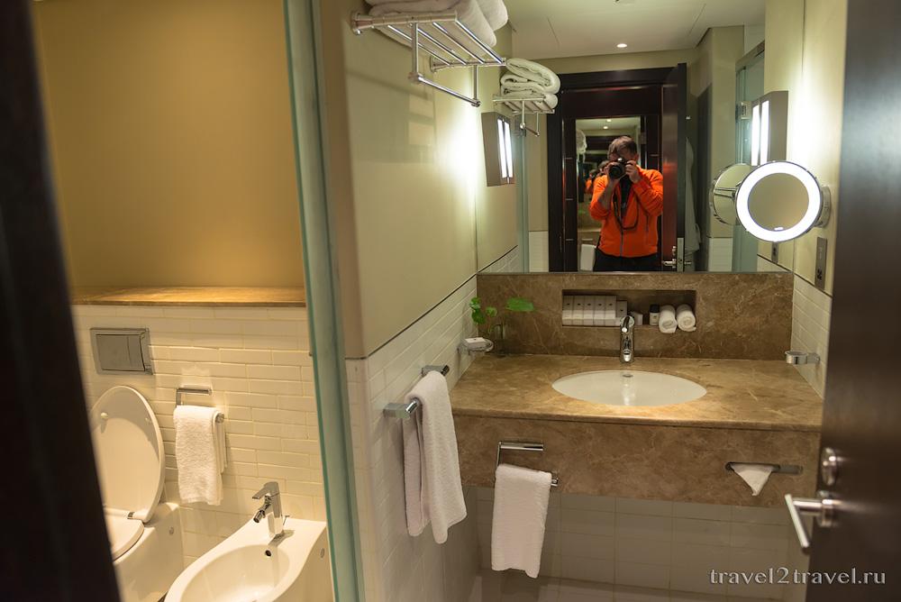 Санузел в номере Де-Люкс в Dubai International Terminal Hotel