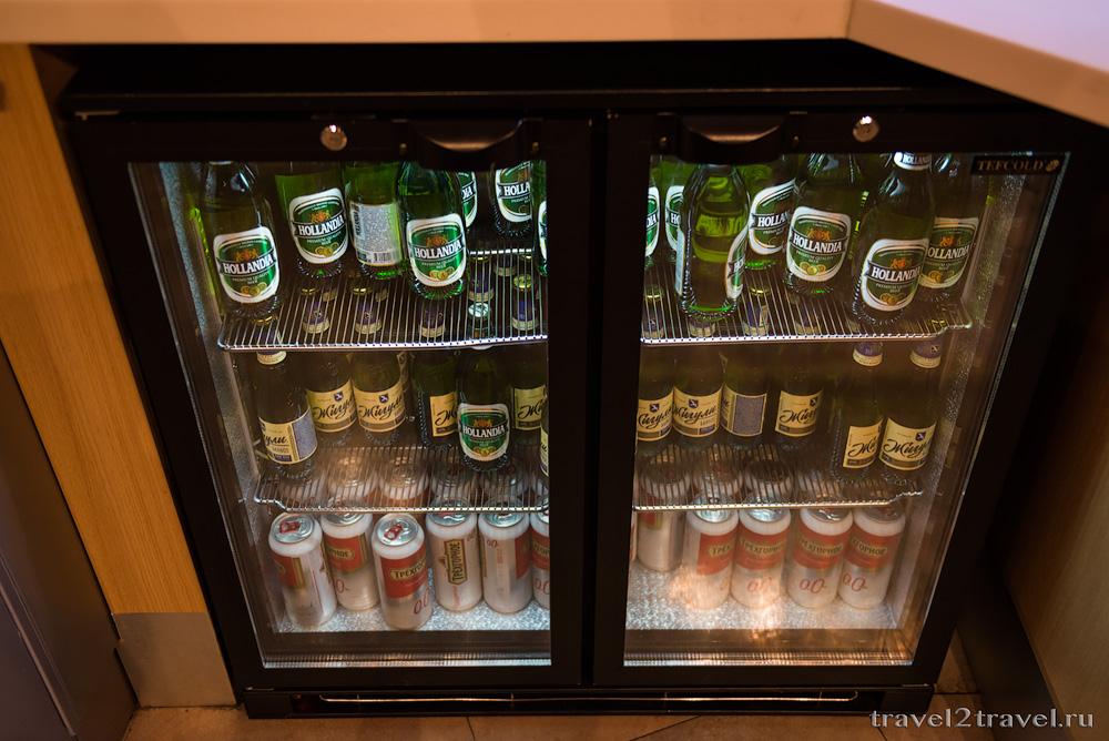 Алкогольные напитки в бизнес-зале Блюз (Blues) Шереметьево, пиво