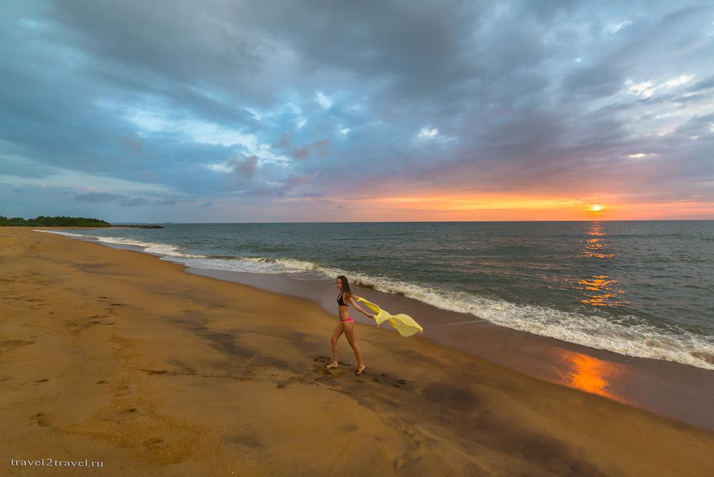 пляж Калутара на Шри-Ланке