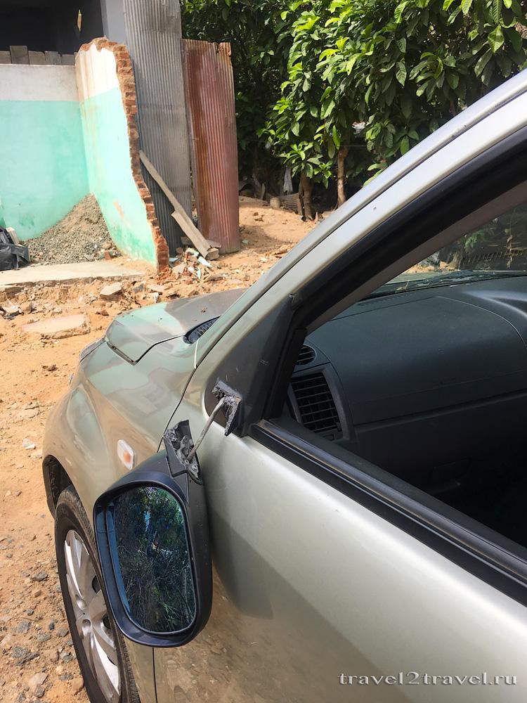 дорожное происшествие на Шри-Ланке