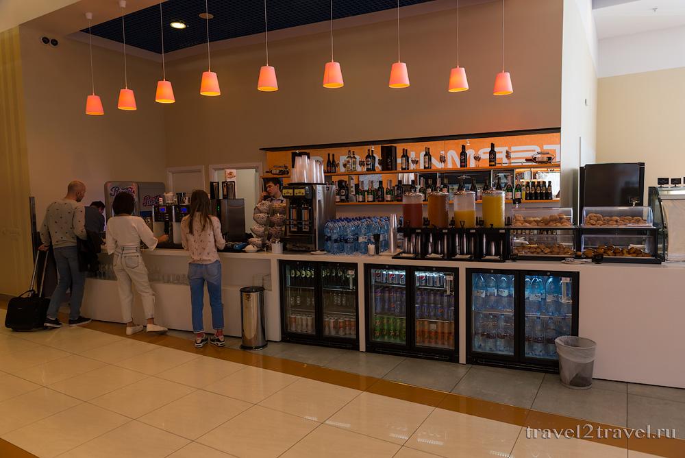 питание и напитки в бизнес-лаунже Галактика (Galaxy Lounge)