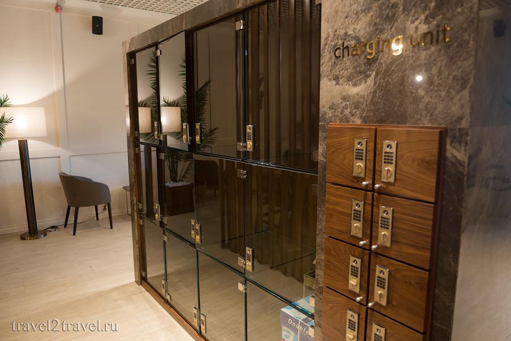 Камера хранения в бизнес-зале Primeclass Lounge в аэропорту Загреба