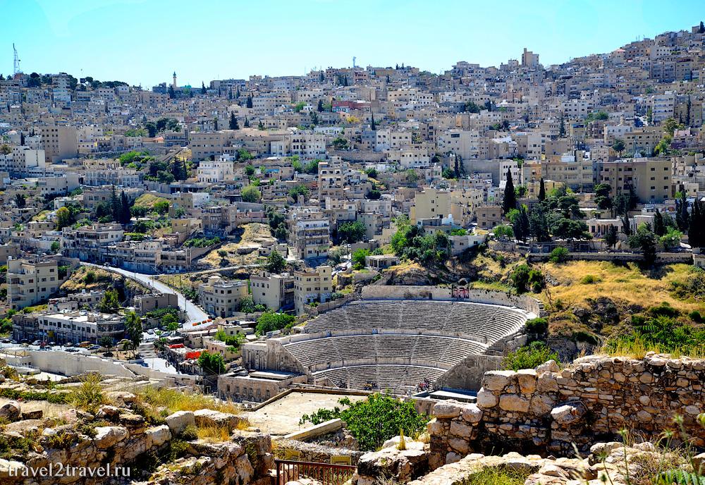 Амфитеатр Аммана вид с Джебель-эль-Калаа