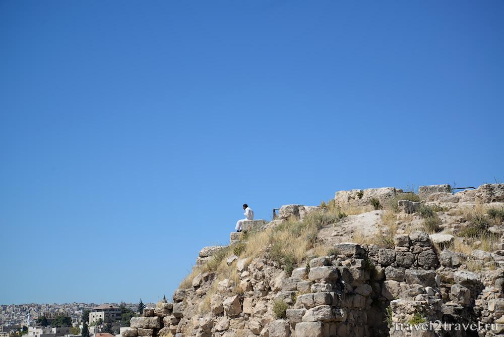 цитадель Аммана Jebel-el-Qalaa