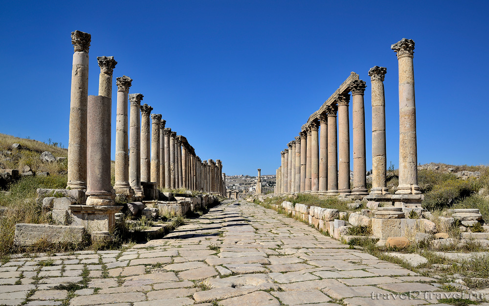 Колонная улица Кардо Максимум, Джераш (Jerash, Jordan) - Путешествие в Иорданию