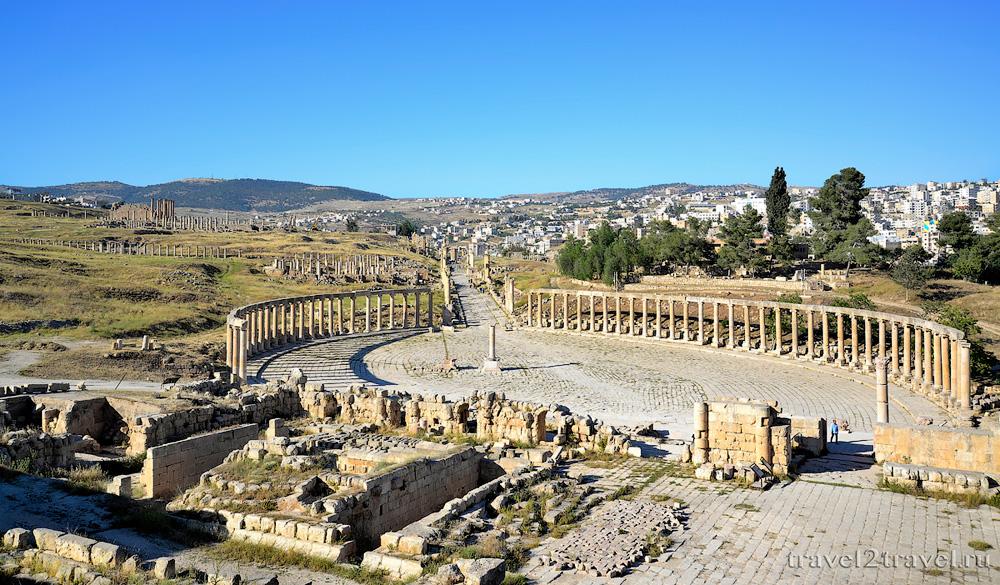 Овальная площадь Джераш (Jerash) формум