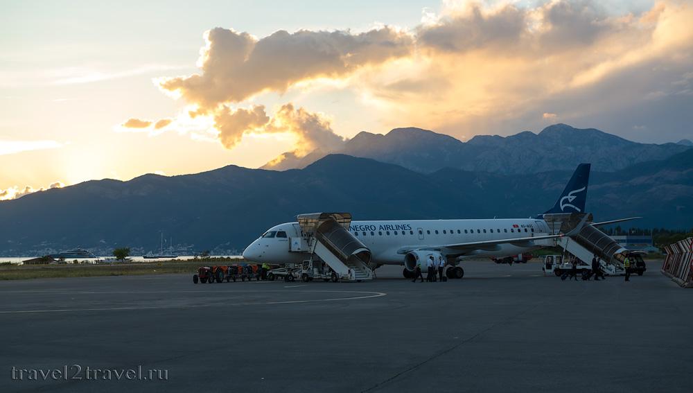 Рейс Тиват-Москва Montenegro Airlines отзыв