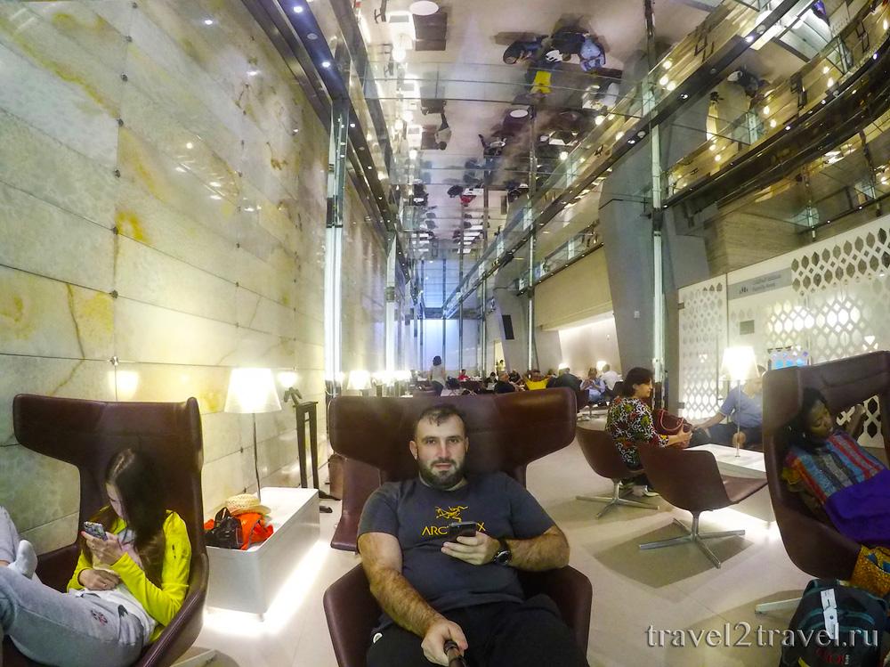 отдых в бизнес-зале в Дохе Al Maha Transit Lounge, Катар