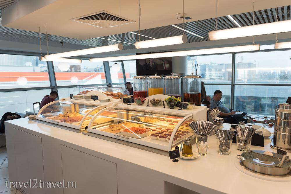 питание в бизнес-зале Галерея (Gallery Lounge) Шереметьево Терминал D