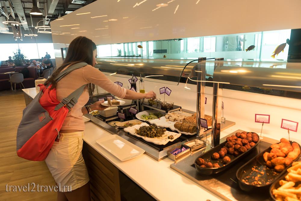 еда и напитки, питание в бизнес-зале в Ларнаке (Larnaca) Aspire Lounge, Кипр, лаунж, vip-зал, аэропорт