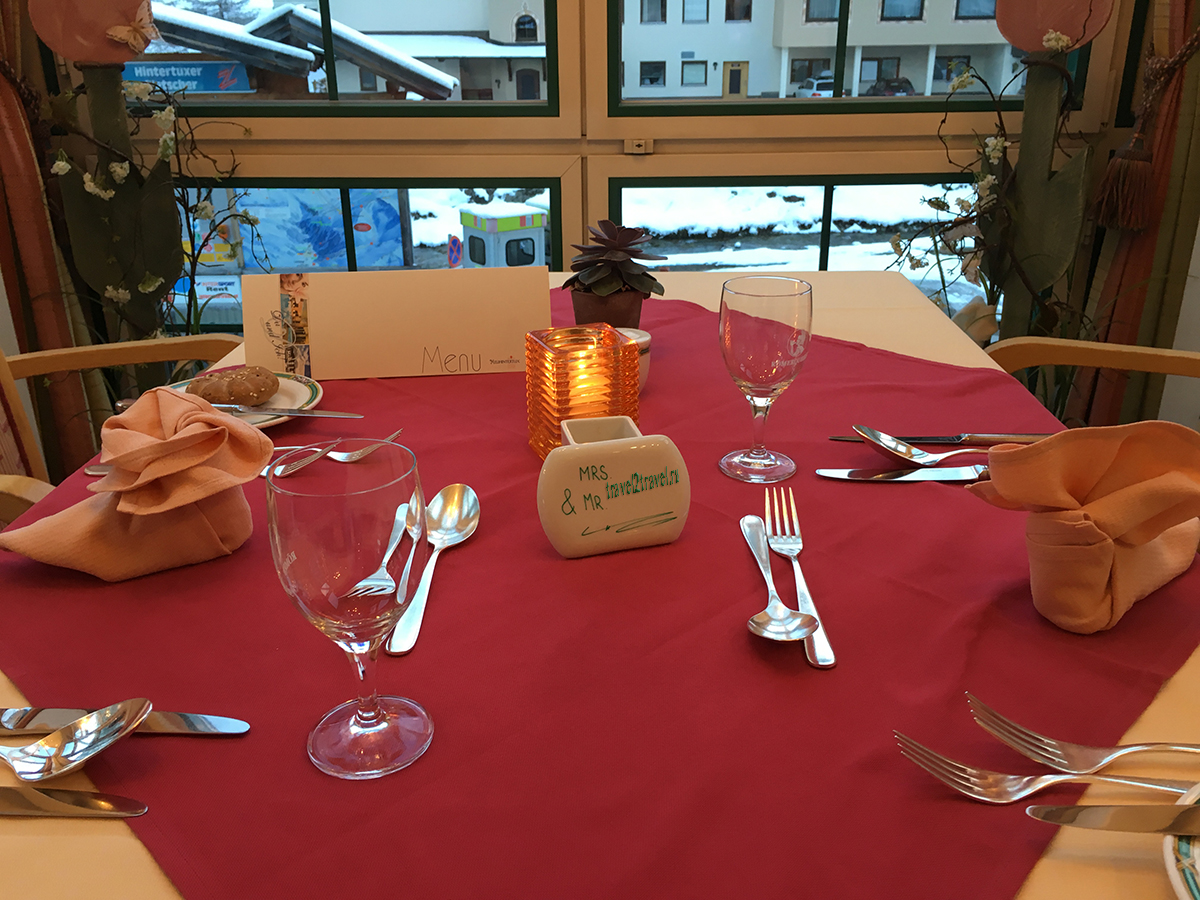 Ресторан в отеле Gletscher & Spa Neuhintertux
