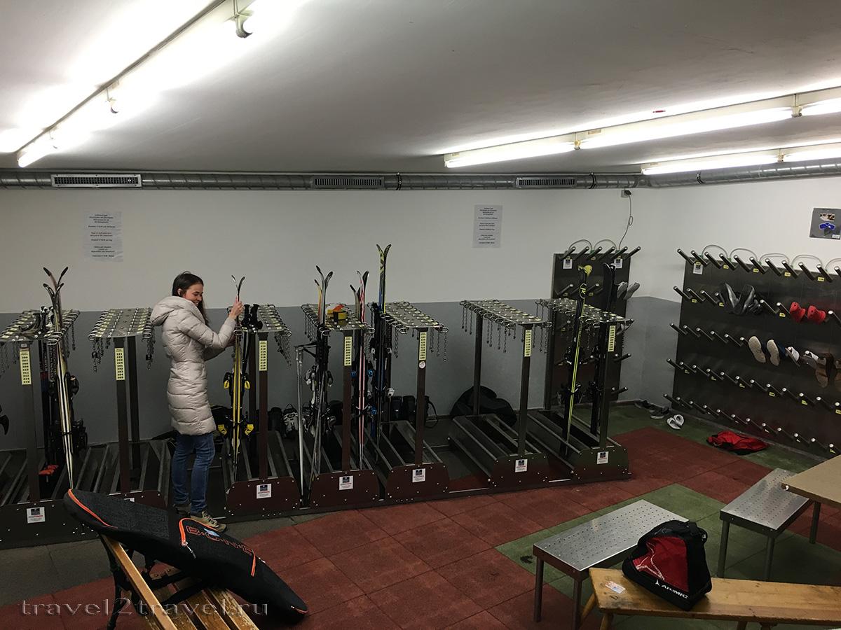 Ski-room отеля Gletscher & Spa Neuhintertux Hotel