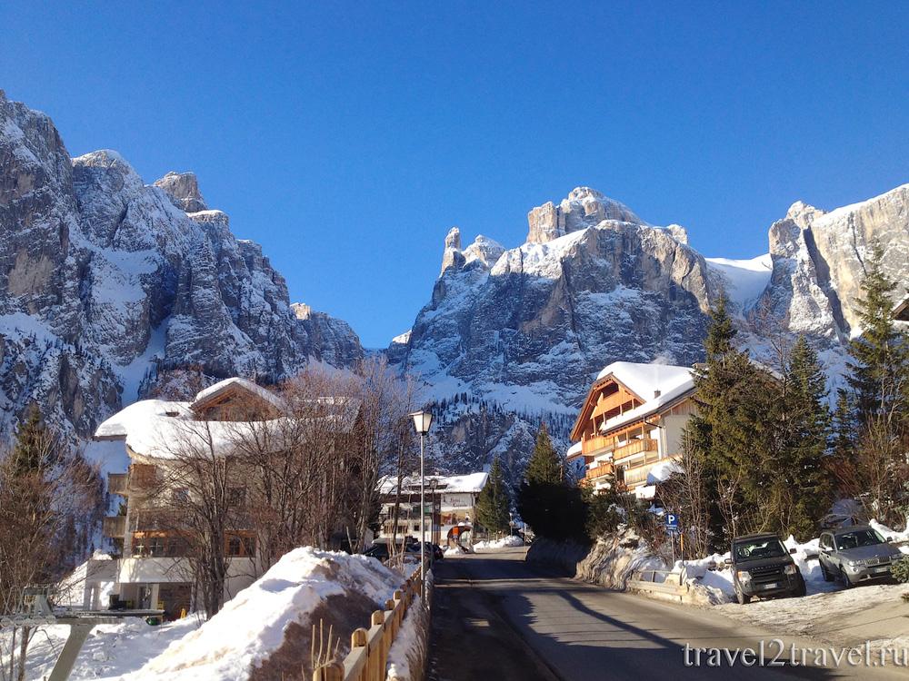 Горнолыжный курорт Альта Бадия, Кольфоско, Доломитовые Альпы, Италия