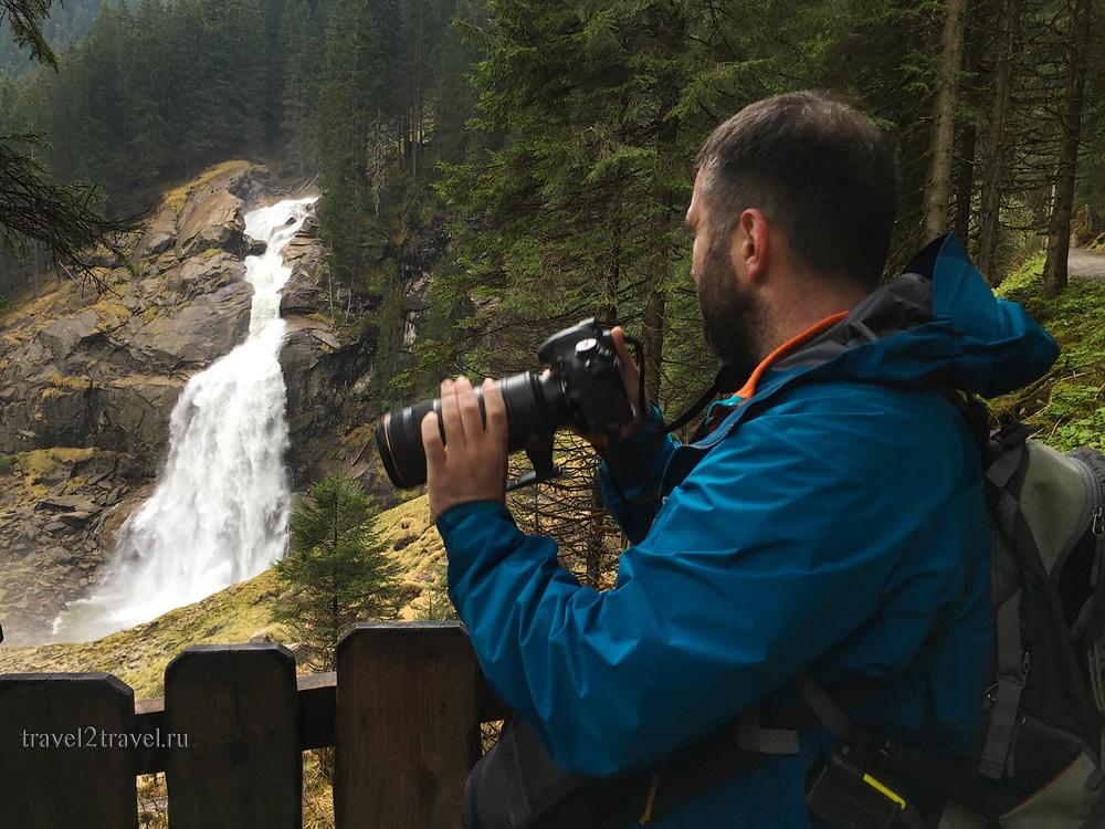 Криммльский водопад, вид с одной из множества смотровых площадок.