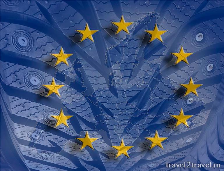 в Европу на шипованной резине