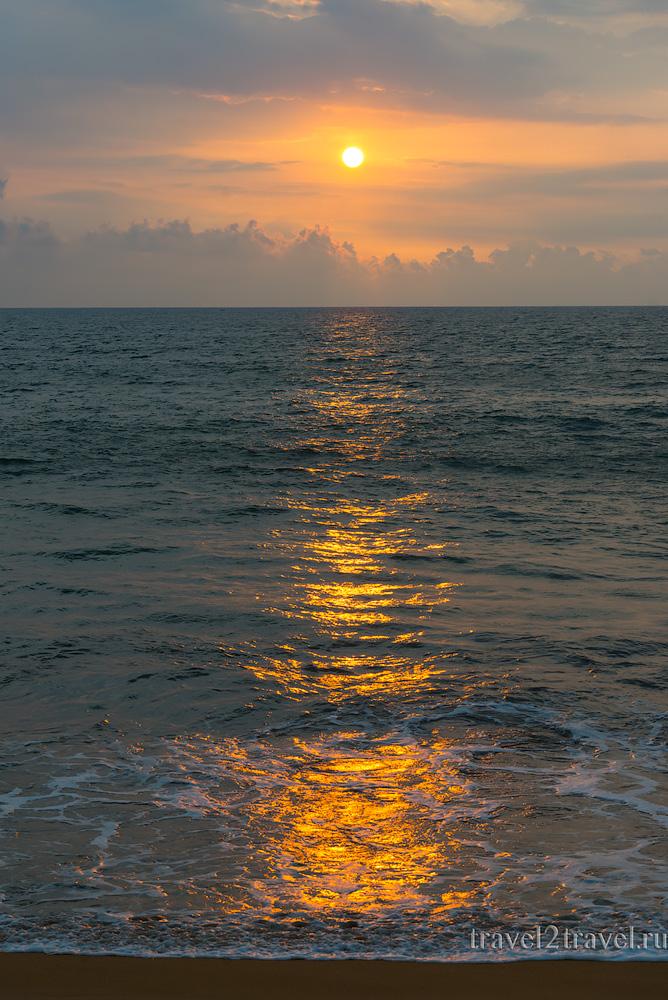 закат, пляж Калутара Шри-Ланка, Kalutara Beach Sri-Lanka