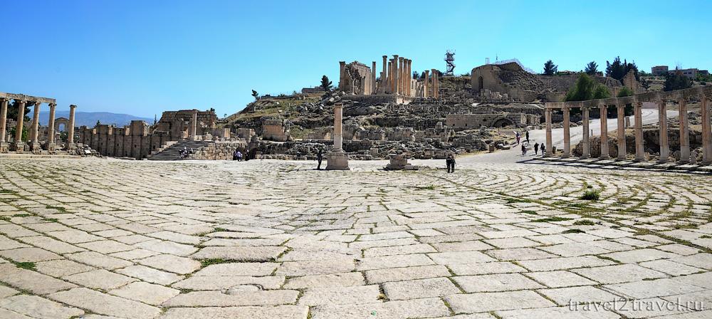 Овальная площадь Джераш (Jerash)