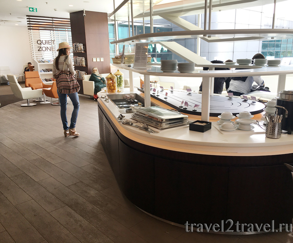питание SkyTeam Lounge в аэропорту Стамбула