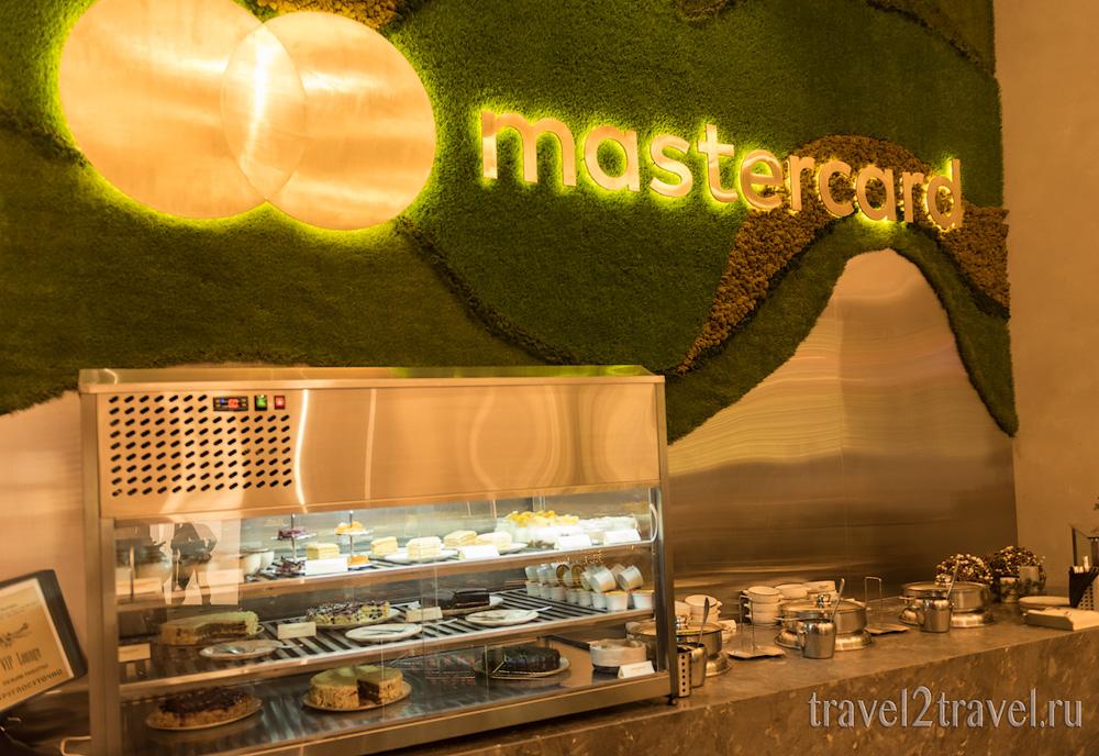 питание, десерты бизнес-зал Mastercard Lounge терминал E Шереметьево