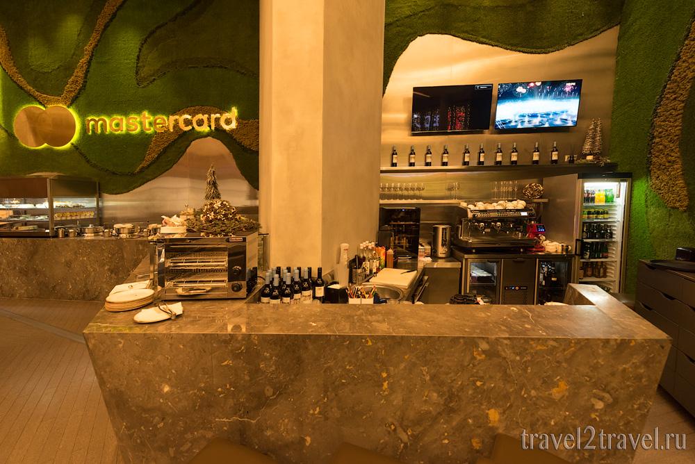напитки  бизнес-зал Mastercard Lounge терминал E Шереметьево