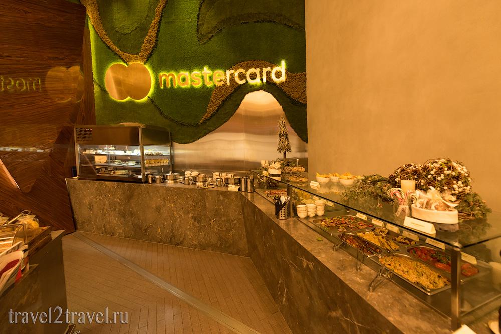питание, шведский стол бизнес-зал Mastercard Lounge терминал E Шереметьево