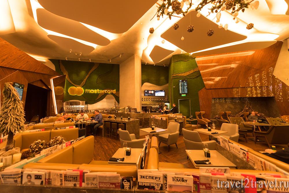 бизнес-зал Mastercard Lounge терминал E Шереметьево