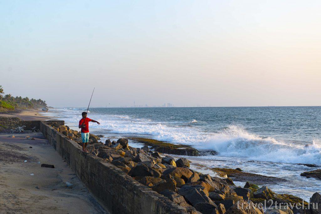 Пляж  Негомбо Лагуна (Negombo Lagoon): песок, волны, чистота, купание